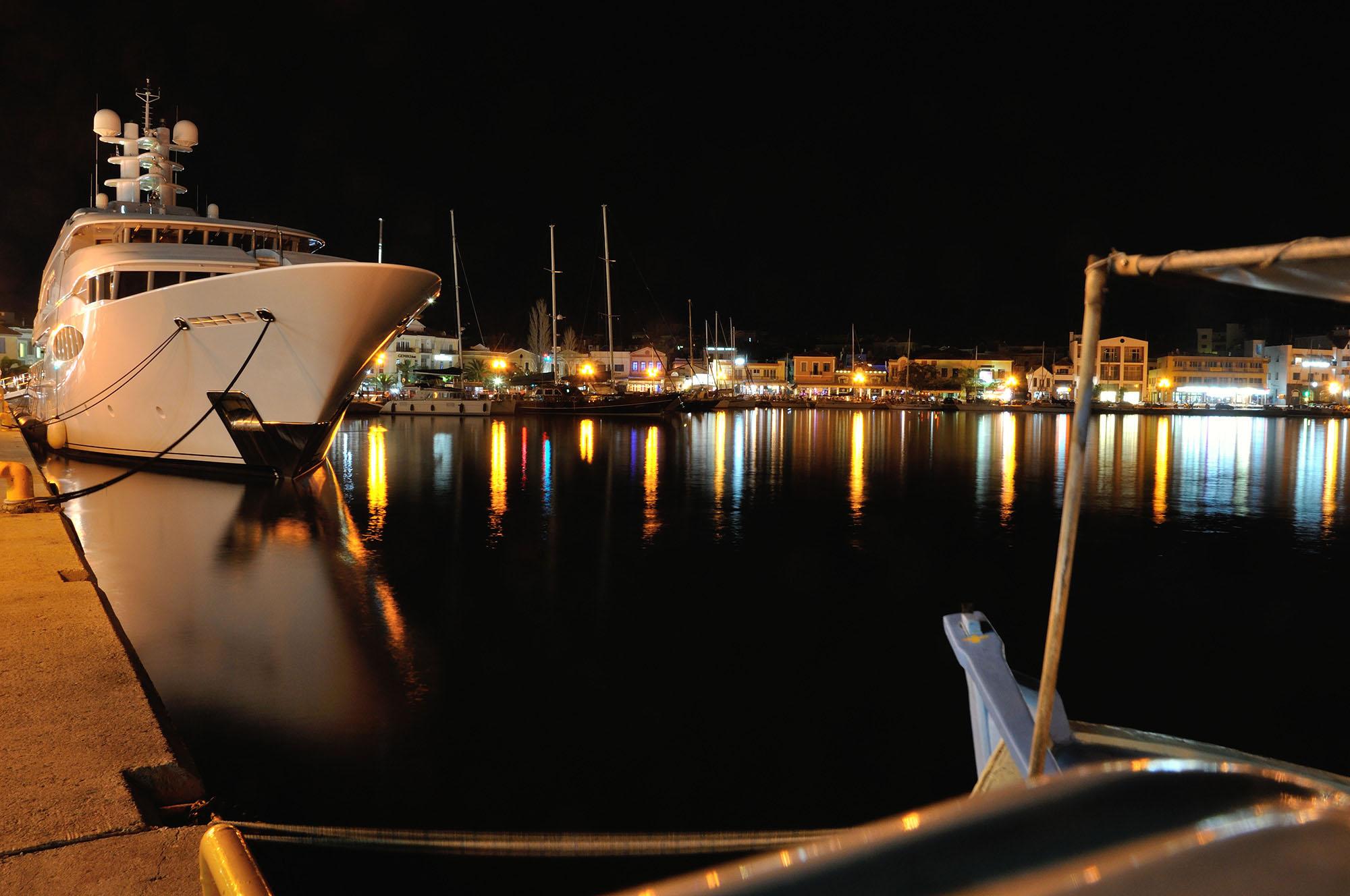 Mytilene port