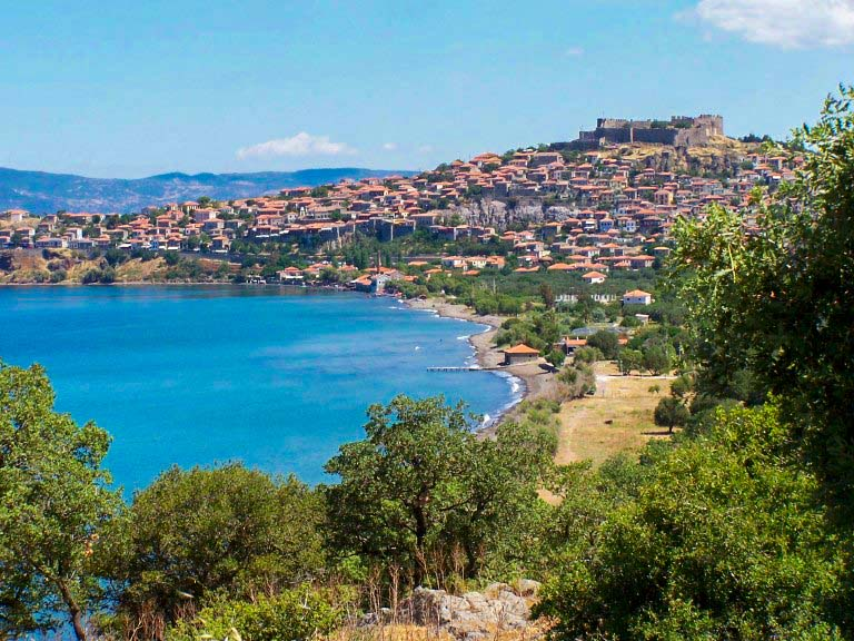 molyvos castle view