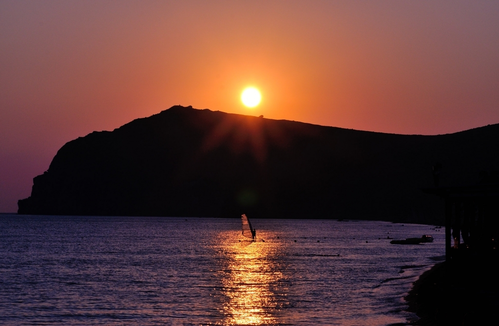 Sunset at Skala Eresou