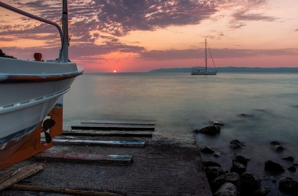 Sunset at Skala Sykamias
