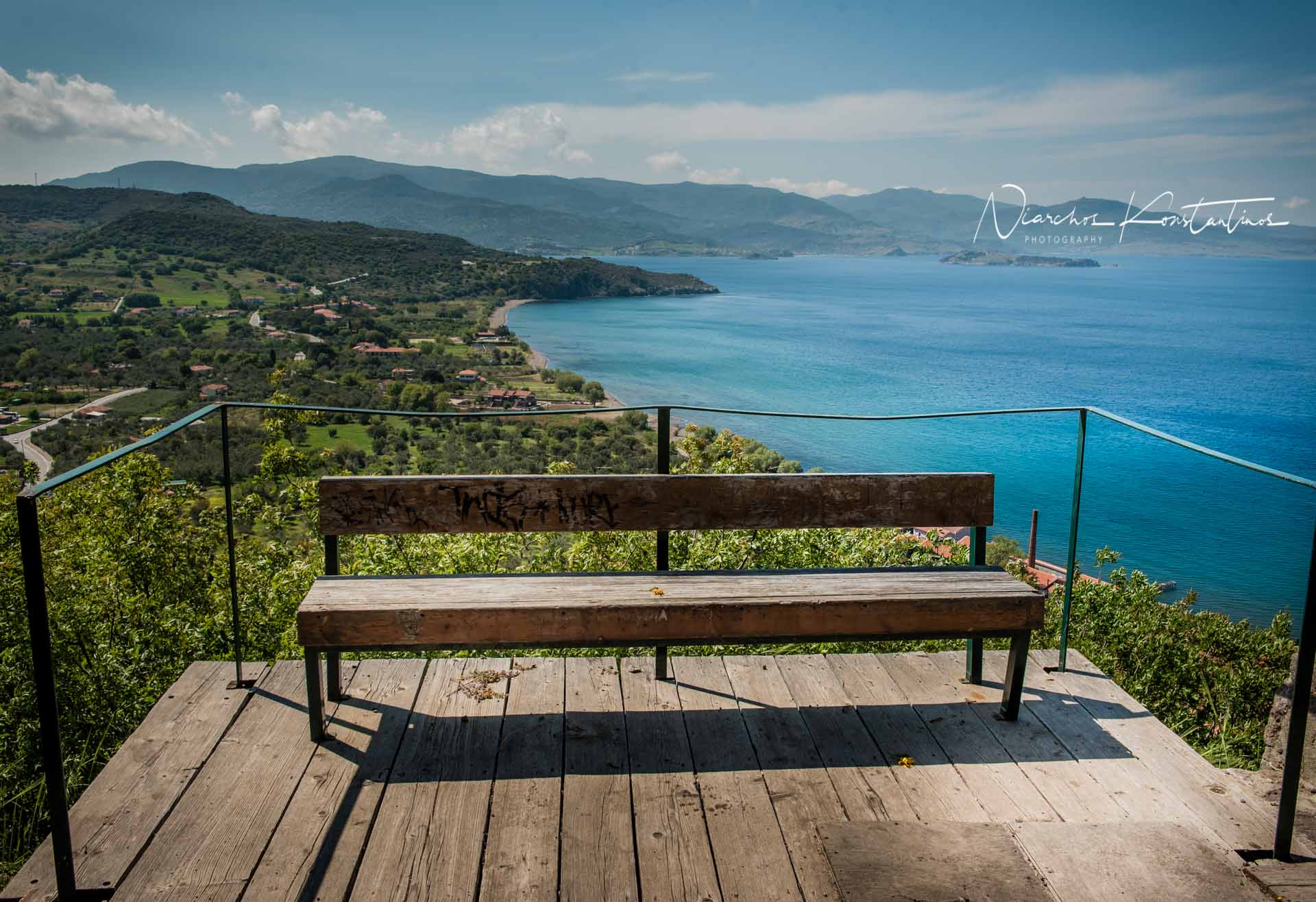 molyvos castle bench
