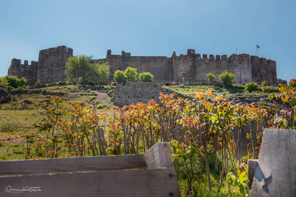 castle of molyvos wall