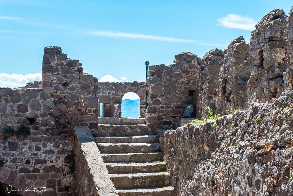 castle of molyvos stairs